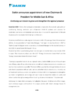 Press Release - New Chairman to MEA - English