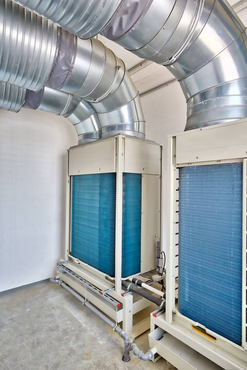 Sound absorbers in the machinery room ventilation system