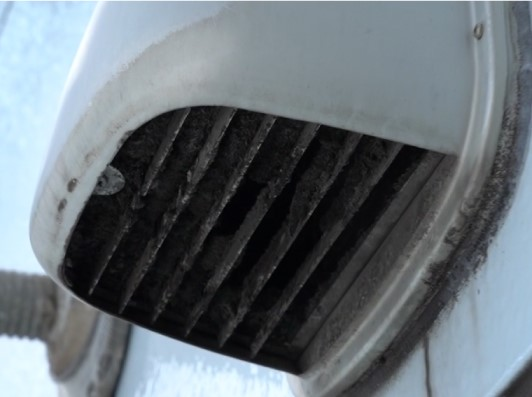 dusty outdoor vent grille